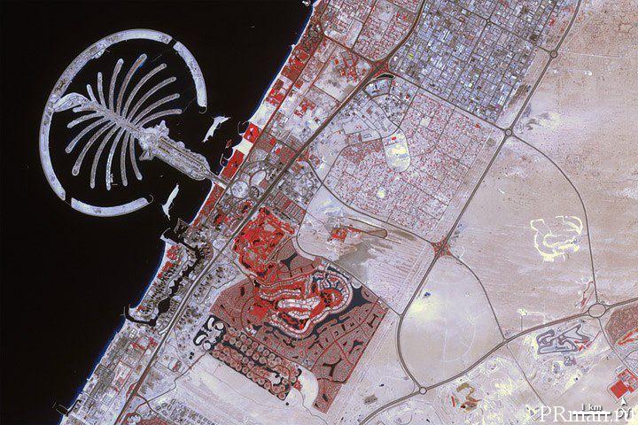 Строительство насыпного острова в Дубаи