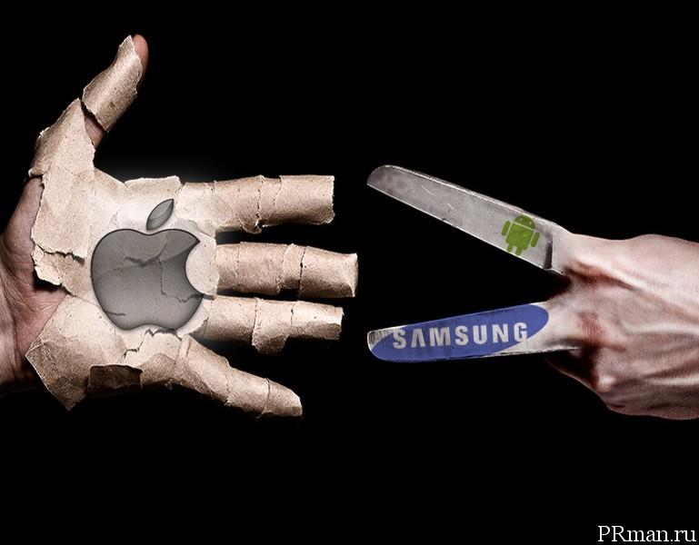 samsung высмеивает apple в рекламе.