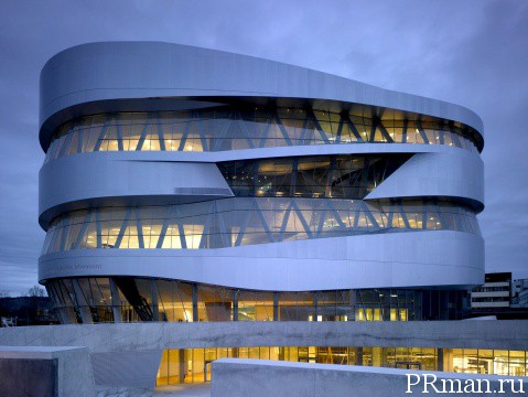 Mercedes-Benz Museum обзор бизнес ланча (Штутгарт)